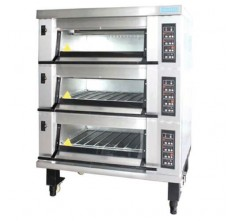 MB-823 GAS DECK OVEN (3 DECKS)