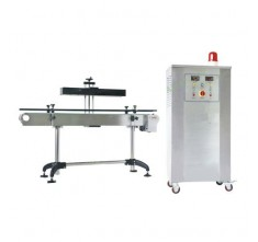 HL-3000A CONTINUOUS INDUCTION SEALING MACHINE WITH BOTTLE REJECTING DEVICE AND CONVEYOR TABLE (SS)