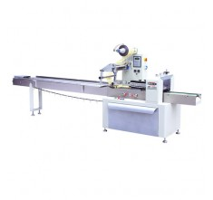 ZW-320ET HORIZONTAL WRAPPING MACHINE WITH FEEDING CONVEYOR WITHOUT CENTER BRUSH