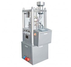 ZP-8 ROTARY TABLET PRESS MACHINE C/W. DUST COLLECTOR & ONE COMPLETE SET OF ROUND SHAPE PUNCHES & DIES (SS304)