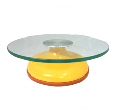 JC4521 GLASS DISPLAY STAND (APRICOT YELLOW)