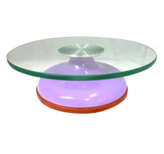 JC4520 GLASS DISPLAY STAND (LIGHT PURPLE)