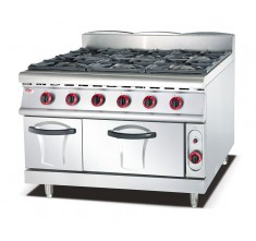 Gas Range With 6-Burner With Gas Oven (OT-889)