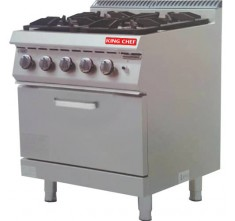 E-RQB-700 GAS 4-BURNER WITH OVEN