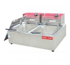 FY-82 ELECTRIC 2-TANK FRYER (2 BASKET - 2 x 6L)